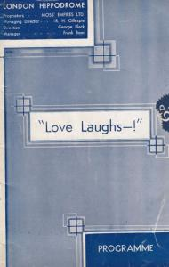 Love Laughs Laddie Cliff Aleen Kearns Comedy Hippodrome London Theatre Programme