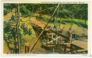 Constructing Trestle Bridge Fort Leonard Wood, Missouri PPC
