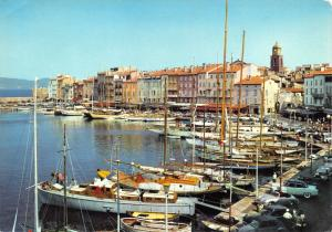 Vintage France Postcard The Port, La Port, Saint Tropez, La Cote d'Azur #349
