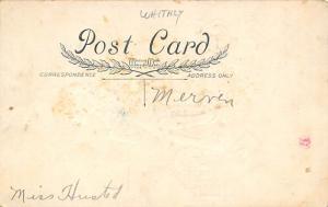 Damaged Valentines Day Postcard Whitney Made Publishing Writing on back