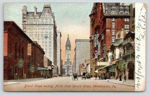 Philadelphia PA~Broad St Theatre @ Spruce~Corner Mansard Tower 1908 Postcard/PC