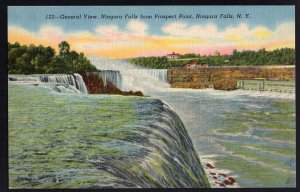 New York NIAGARA FALLS General View from Prospect Point - LINEN