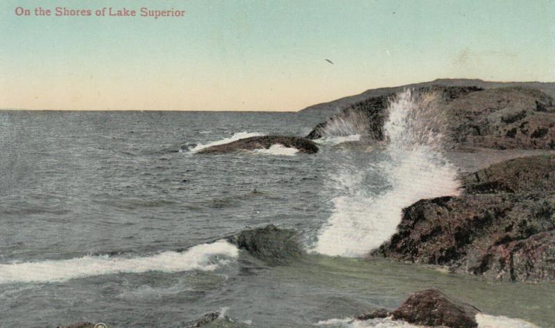 Shore of Lake Superior , Ontario , Canada , 1900-10s