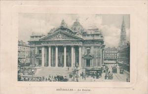 Belgium Brussells Bruxelles La Bourse Market 1911