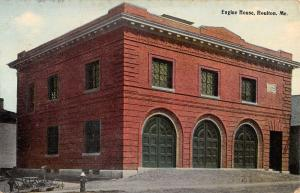 Houlton Maine Engine House Exterior Street View Antique Postcard K24197