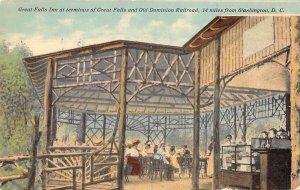 Washington DC Great Falls Inn Old Dominion Railroad Vintage Postcard AA34643