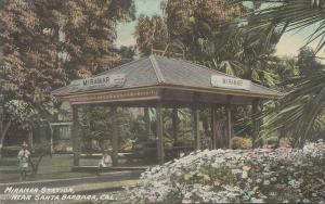 Miramar Train Station, Near Santa Barbara, California, Early Postcard, unused
