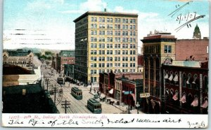 Birmingham, Alabama Postcard 20th Street, Looking North Downtown Scene 1907