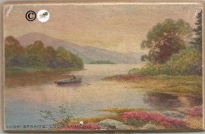 Row Boat in River Running In Front of Mountain Luss Straits Loch Lomond 1/4 Inch