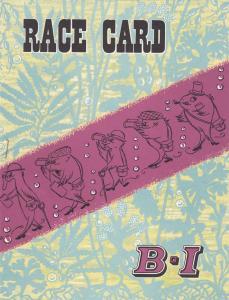 UGANDA Turf Club Horse Race Program, Race Card ; B-I rules 40-50s
