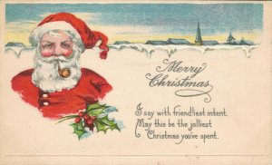 Merry Christmas I say with friendliest intent Santa Claus 04.02