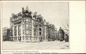 Brooklyn Eagle Postcard Series #190 c1905  ALHAMBRA APT HOUSE