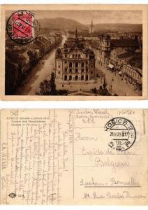 CPA Kosice Divadlo a hlavni ulice CZECHOSLOVAKIA (619477)