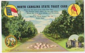 North Carolina State Toast Card