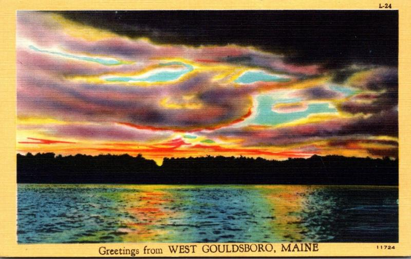 Maine Greetings From Gouldsboro