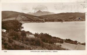 Vintage RPPC Real Photo Postcard Lamlash Bay and Goatfell Isle of Arran Scotland