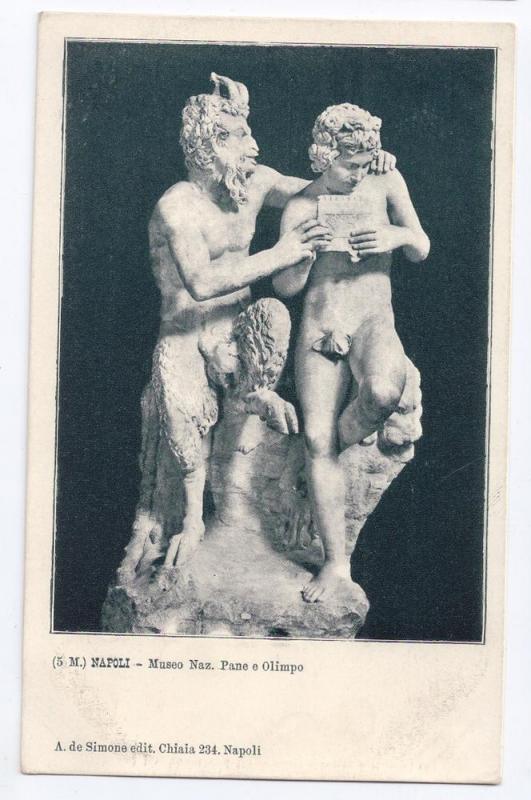 Napoli Museo Pane e Olimpo Statue God Pan and Daphnis UDB