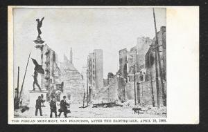 Phelan Monument Post Earthquake San Franciso CA Unused 1906
