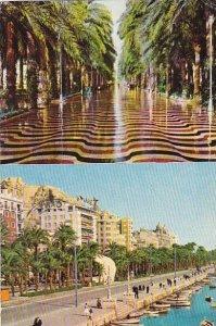 Spain Alicante Explanada de Espana  & Harbour
