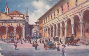 TUCK #7989, Piazza dell' Annunziata, Palazzo Riccardi-Mannelli, Barroque foun...