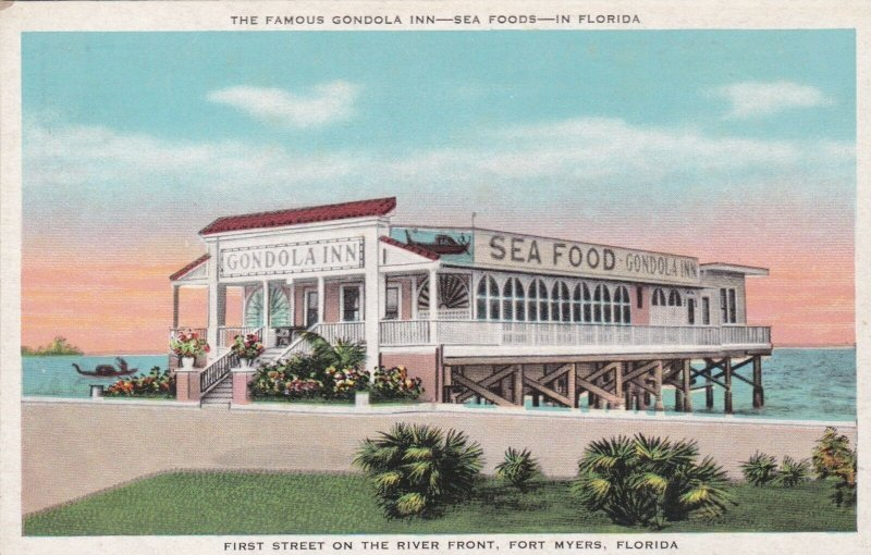 Florida Fort Myers Gondola Inn Seafood Restaurant First Street On River sk2968