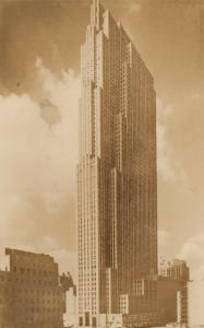 RP, NEW YORK CITY, PU-1941; RCA Building, Rockefeller Center