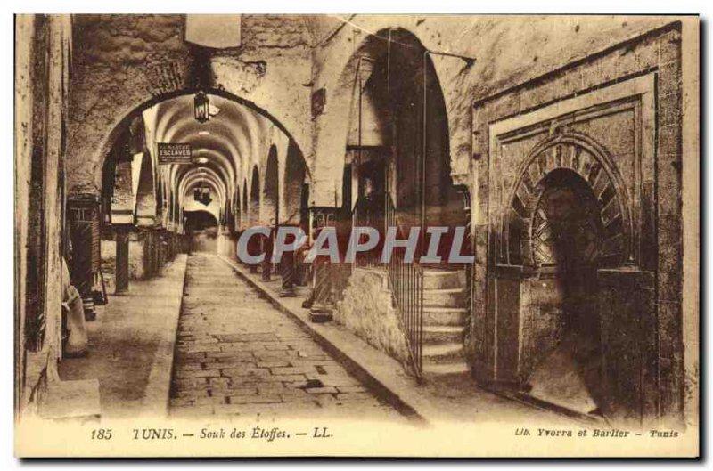 Old Postcard Tunis Souk Fabrics