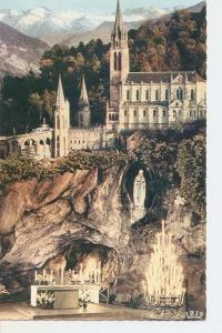 Postal 031940 : Lourdes. The Grotto and the Basilica