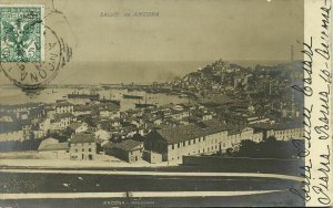 italy, ANCONA, Panorama (1905) RPPC Postcard