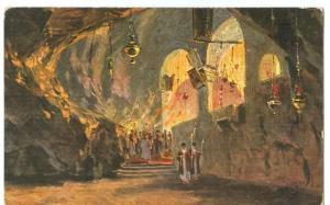 Religious Theme, Monastery in Cave, early 1900s unused