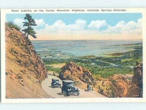 W-border OLD CARS AT POINT SUBLIME Colorado Springs Colorado CO AD4760