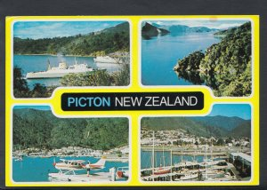 New Zealand Postcard - Views of Picton   T568