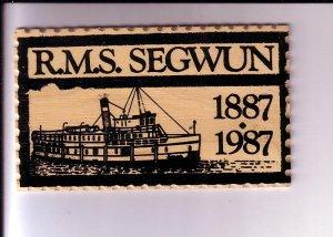RMS Segwun 1887-1987 Steamship, Gravenhurst, Ontario, Wooden Postcard