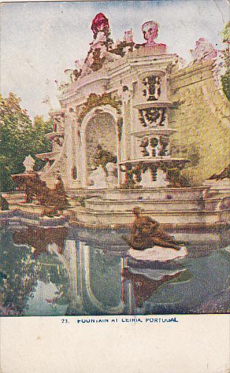 Portugal Fountain At Leiria 1909