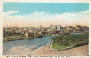 ST. PAUL, Minnesota, 10-20s; Bird's Eye View, State Capitol & Business District