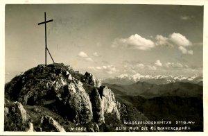 Austria - Wildseeloderspitze. View of Glockner Range      *RPPC