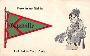 Dere is No Girl in Gapsville Pennsylvania~Dot Takes Your Place~Dutch Boy~1913