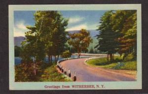 NY Greetings from WITHERBEE NEW YORK Postcard PC