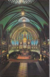 Canada Quebec Montreal Interior View Of Notre Dame Church