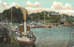 Postcard UK England Shepperton, Middlesex steamboat