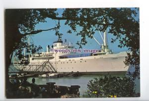 LN0612 - Singapore Educational Liner - Logos , built 1949 - postcard