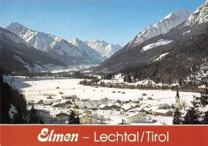 Elmen Lechtal Tirol mit Wannspitze, Sonnkogel Rotschrofenspitze Winter Panorama