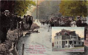 D73/ Belle Plaine Iowa Ia Postcard c1910 2View Jumbo Artesian Well Crowd 2