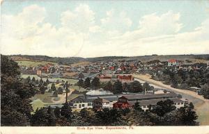 Reynoldsville Pennsylvania Birds Eye View of Town Antique Postcard V8904