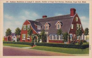 Summer Residence Of Joseph C Lincoln Chatham Cape Cod Massachusetts