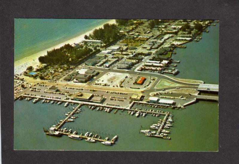 FL Yacht Basin, Marina Boats, Clearwater, Florida Postcard PC