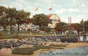 Portland, Maine THE GEM THEATRE Peak's Island Casco Bay 1910 Vintage Postcard