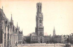 Le Beffroi et le Palais du Gouverneur Bruges Belgium Unused