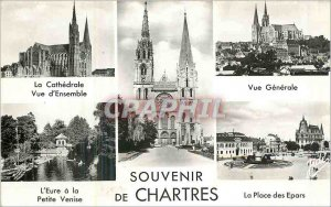 Modern Postcard Souvenir of Chartres cathedral Overview General views the Eur...