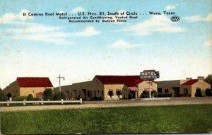 Texas Waco El Camino Real Motel U S Hwy 81